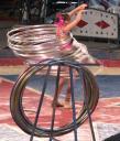 Hoola hooping at the circus