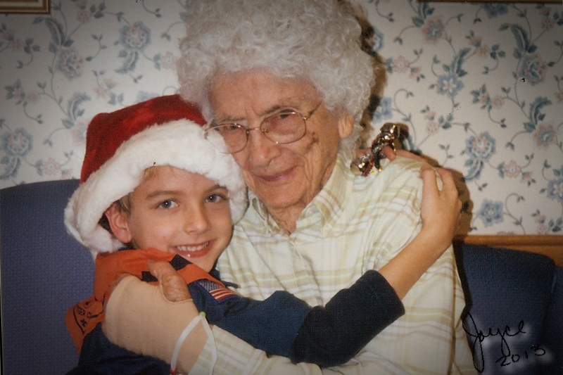 Mark with Grandma Christmas