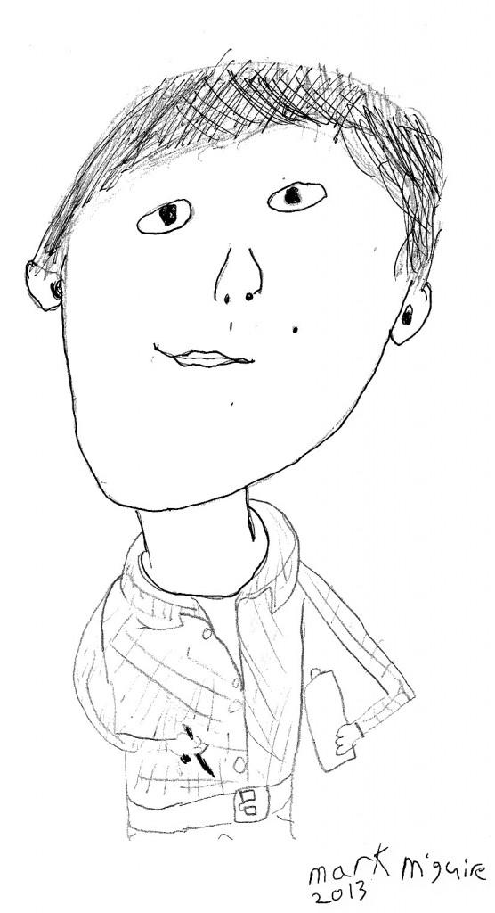 Self Portrait2 Jan 2013Using Indian Ink